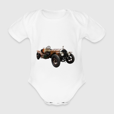 automobile - Organic Short-sleeved Baby Bodysuit