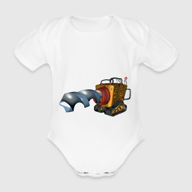 The size is what matters! - Drill - Organic Short-sleeved Baby Bodysuit