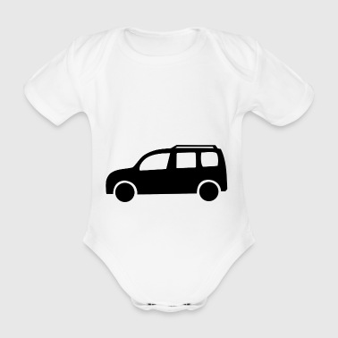 minivan automobile car vehicle camping caravan - Organic Short-sleeved Baby Bodysuit