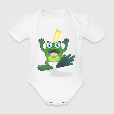 The Frog Prince - Organic Short-sleeved Baby Bodysuit