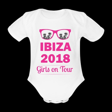 Ibiza girl on tour - Organic Short-sleeved Baby Bodysuit