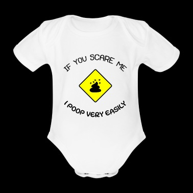 Poop Easily Black Uk1 - Organic Short-sleeved Baby Bodysuit