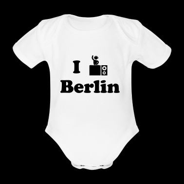 berlin dj - Organic Short-sleeved Baby Bodysuit