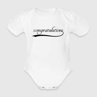 Congratulations - Organic Short-sleeved Baby Bodysuit