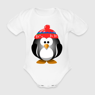 Pinguin WInter - Baby Bio-Kurzarm-Body