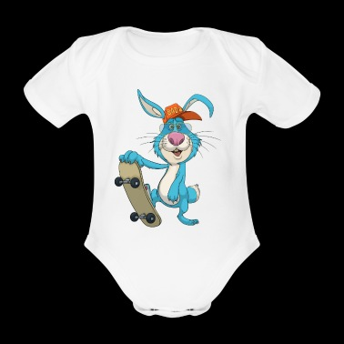Cool skateboard Rabbit Skateboarding Rabbit - Økologisk kortermet baby-body