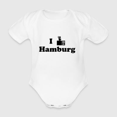 hamburg dj - Organic Short-sleeved Baby Bodysuit