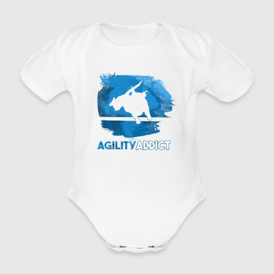 Agility Addict Blue - Organic Short-sleeved Baby Bodysuit