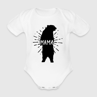Mama Bear Mothers Day - Mother 's Day - Organic Short-sleeved Baby Bodysuit