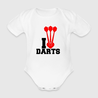 darts - Organic Short-sleeved Baby Bodysuit