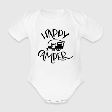Camping: Happy Camper - Organic Short-sleeved Baby Bodysuit