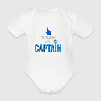 This guy is the captain - Organic Short-sleeved Baby Bodysuit