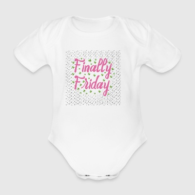 Finally Friday - Organic Short-sleeved Baby Bodysuit