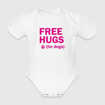 Free hugs for dogs - Organic Short-sleeved Baby Bodysuit