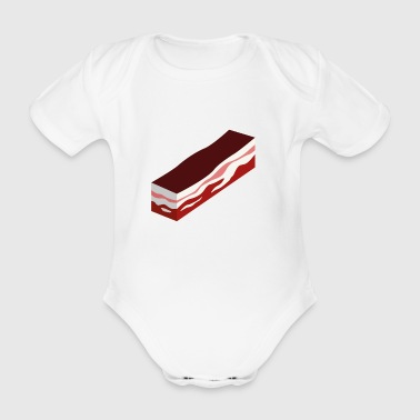 bacon - Organic Short-sleeved Baby Bodysuit
