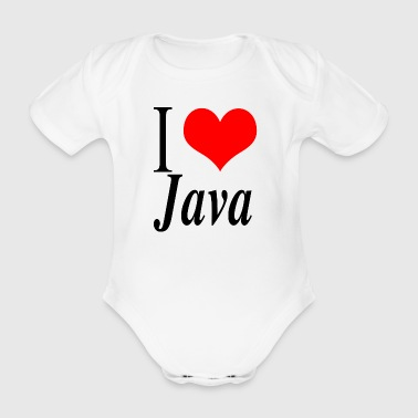 I love Java - Organic Short-sleeved Baby Bodysuit