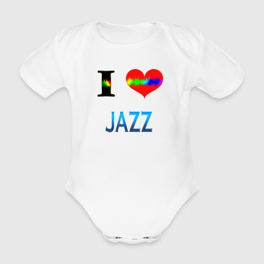 I Love JAZZ - Organic Short-sleeved Baby Bodysuit