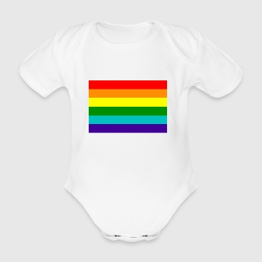 Gay pride rainbow flag - Organic Short-sleeved Baby Bodysuit