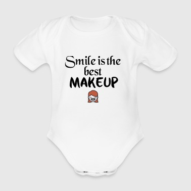 Smile is the best makeup - Baby Bio-Kurzarm-Body