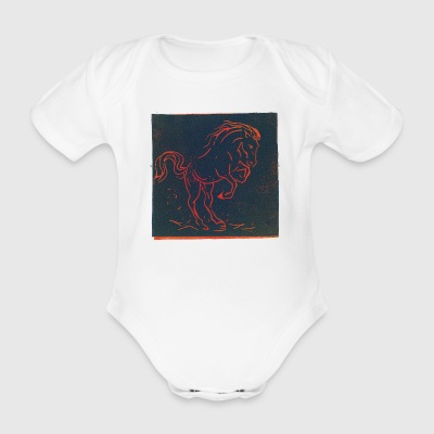 Horse 01 - Organic Short-sleeved Baby Bodysuit