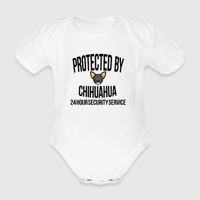 Protected by chihuahua - Baby Bio-Kurzarm-Body