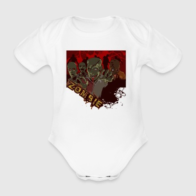 Zombies - Organic Short-sleeved Baby Bodysuit