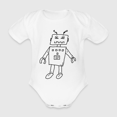 Robot1 - Organic Short-sleeved Baby Bodysuit