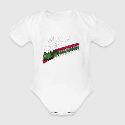 toy train - Organic Short-sleeved Baby Bodysuit