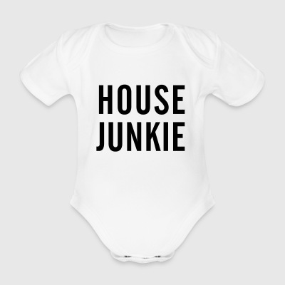 House Junkie - Organic Short-sleeved Baby Bodysuit