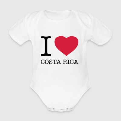 I love Costa Rica - Organic Short-sleeved Baby Bodysuit