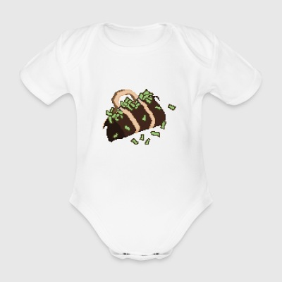 moneybag - Organic Short-sleeved Baby Bodysuit