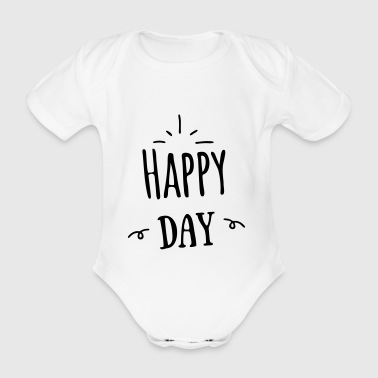 happy day - Baby bio-rompertje met korte mouwen