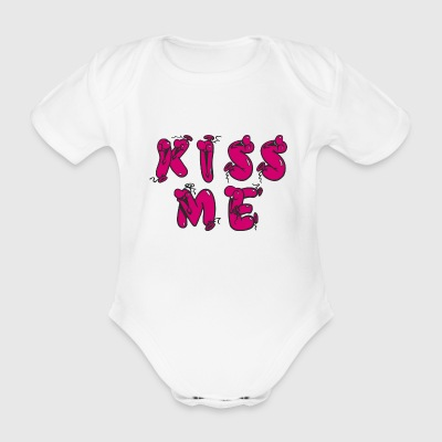 KISS ME - Organic Short-sleeved Baby Bodysuit