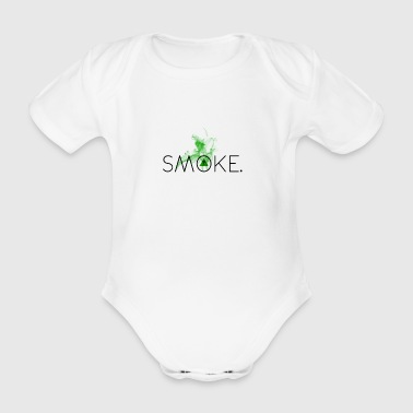 Hipster Smoke - Organic Short-sleeved Baby Bodysuit