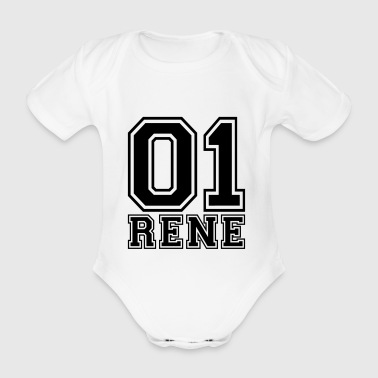 Rene - Name - Organic Short-sleeved Baby Bodysuit