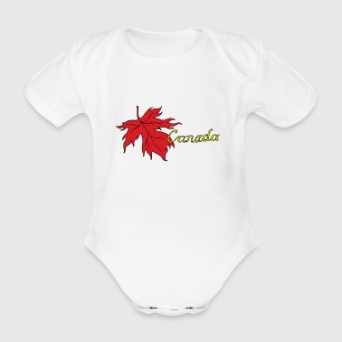 Canada Maple Leaf - Organic Short-sleeved Baby Bodysuit