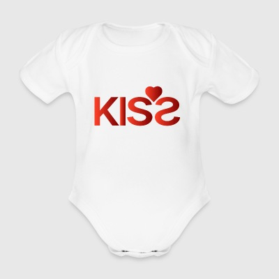 Kiss - Organic Short-sleeved Baby Bodysuit