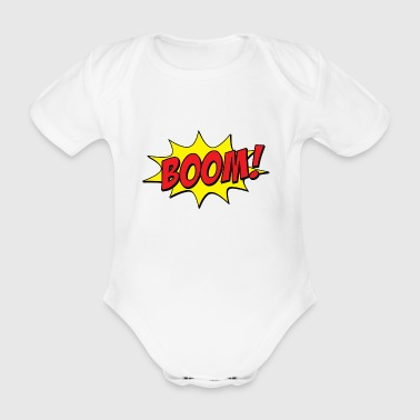 boom - Organic Short-sleeved Baby Bodysuit
