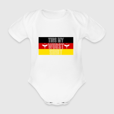 World Bratwurst Day - Day of Bratwurst - Organic Short-sleeved Baby Bodysuit
