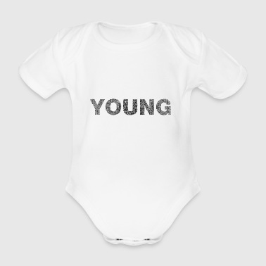 Young writing - Organic Short-sleeved Baby Bodysuit