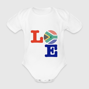 SOUTH AFRICA HEART - Organic Short-sleeved Baby Bodysuit