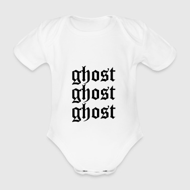 Ghost ghost ghost - Organic Short-sleeved Baby Bodysuit