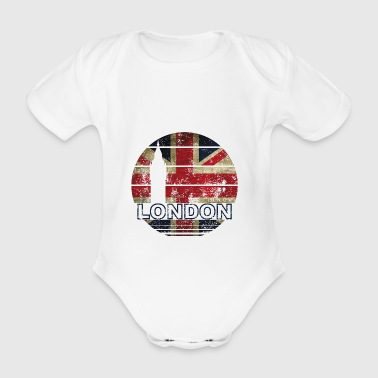 LONDON ENGLAND LONDON - Organic Short-sleeved Baby Bodysuit