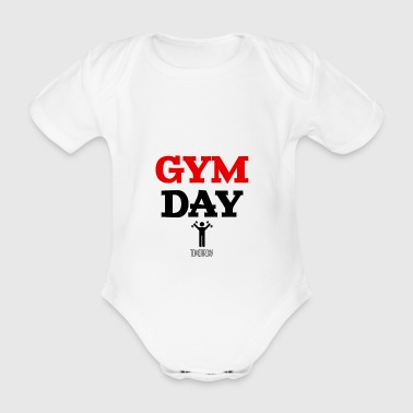 Gym Day Tomorrow - Baby Bio-Kurzarm-Body