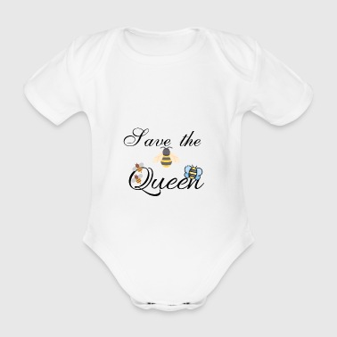 Save the Queen - Organic Short-sleeved Baby Bodysuit