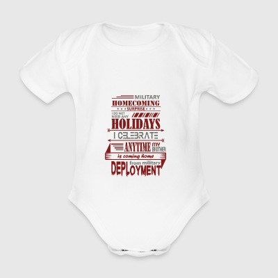 Military Patriot Holidays Brother Military Soldier - Organic Short-sleeved Baby Bodysuit