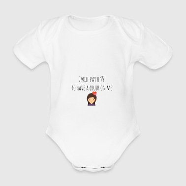 I will pay you $ 5 - Organic Short-sleeved Baby Bodysuit