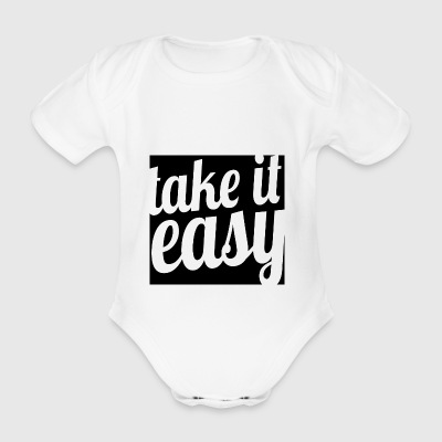 Take it easy - Organic Short-sleeved Baby Bodysuit