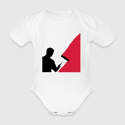Painter and painter - vector - Organic Short-sleeved Baby Bodysuit