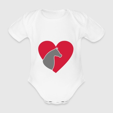 horse - Organic Short-sleeved Baby Bodysuit